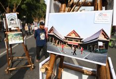Photo exhibition Stock Images