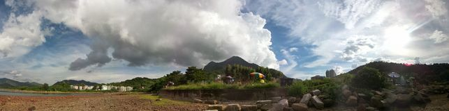 #photo för #love för #Mablephoto för #nature#hongkong#cloud som #PANORAMA #shooting Royaltyfria Bilder