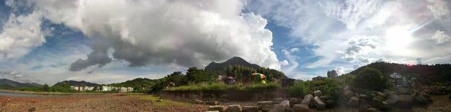 #photo för #love för #Mablephoto för #nature#hongkong#cloud som #PANORAMA #shooting Royaltyfria Bilder