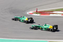 Photo F1 : Voitures de Caterham de la formule 1 – photos courantes Image libre de droits