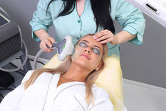 Photo Facial Therapy. Anti-aging Procedures. Royalty Free Stock Photo