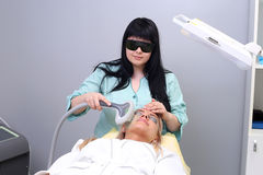 Photo Facial Therapy. Anti-aging Procedures. Royalty Free Stock Images