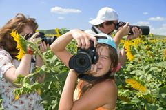 Photo - family hobby. Stock Image