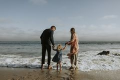 Photo of Family On Seashore stock images