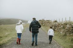 Photo of Family Walking royalty free stock images