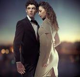 Photo fantastique de grands couples élégants Image libre de droits