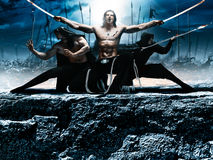 Photo fantasy battle ninja Stock Photo