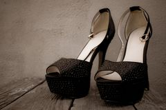 A photo of fashion beautiful women`s shoes high-heeled shoes stock photos