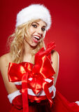 Photo of fashion Christmas girl Royalty Free Stock Photos