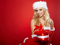 Photo of fashion Christmas girl Stock Images