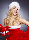 Photo of fashion Christmas girl Royalty Free Stock Images