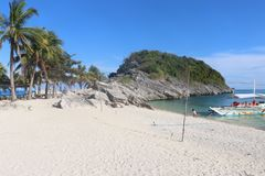 BEACH VIEW ON THE ISLA GIGANTES IN THE PHILIPPINES Stock Photography