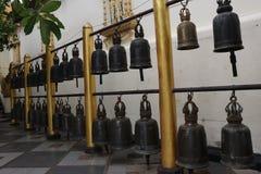 VARIETY OF BELLS AT DOI SUTHEP IN CHIANG MAI royalty free stock photos