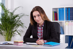 Photo of female office worker Stock Photography