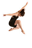 Photo femelle de studio de danseur d'isolement Photographie stock libre de droits