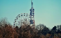 Photo of a Ferris Wheel Beside Tower Stock Image