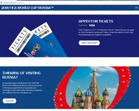 Photo FIFA website with tickets for the 2018 FIFA world Cup Russia royalty free stock photo