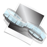 Photo film. Illustration, whorl photo films and photo on white background Royalty Free Stock Images