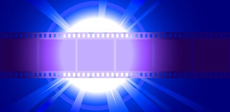 Photo Film closeup illuminated spotlight. Vector illustration Stock Image