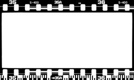 Photo film frame. Old photographic blank film frame Stock Images
