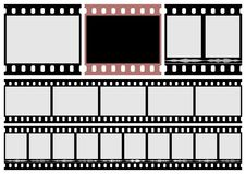 Photo film and movie film. The Photo film and movie film on white background Royalty Free Stock Images