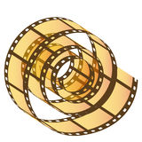 Photo film reel. Transparent Photo film reel with movie reel unwinding stock illustration