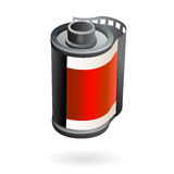 Photo film roll. Illustration of isolated photo camera film roll Royalty Free Stock Photo
