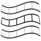 Photo film strip warp. Three blank film strips with room to add your own copy twisted Stock Photos