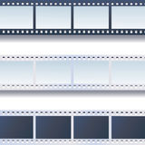 Photo, film tapes vector set Royalty Free Stock Image