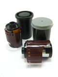 Photo films and boxes Stock Image