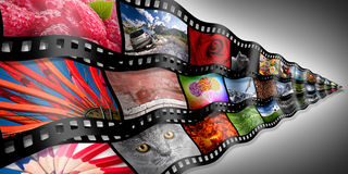 Photo filmstrip concept Royalty Free Stock Photos