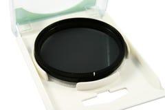 Photo filter (CPL). Circular polarizing lens (CPL) filter in box Royalty Free Stock Photography