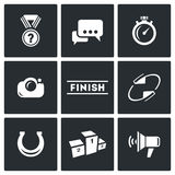 Photo finish icons. Vector Illustration. Stock Images