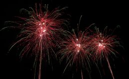 Photo of firework displays.  Stock Images