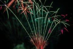 Photo of firework displays.  Stock Photography