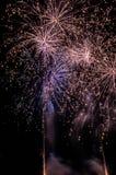 Photo of firework displays.  Royalty Free Stock Image