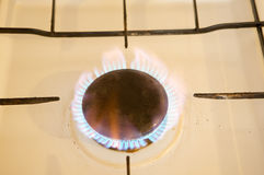 Photo of flames of kitchen Royalty Free Stock Photography