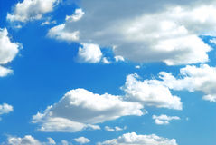 Photo of fluffy clouds Stock Photos