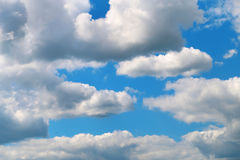 Photo of fluffy clouds Royalty Free Stock Images