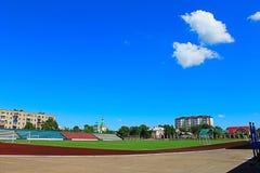 Photo football stadium Royalty Free Stock Photography