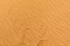 Photo of footprints on the sand of a desert in the United Arab E Royalty Free Stock Images