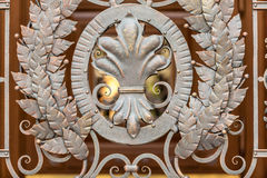 Photo of forged metal decoration on gates Stock Image