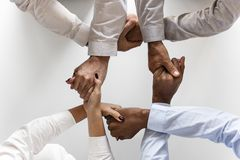 Photo of Four Persons Uniting Hands Royalty Free Stock Photography