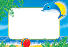 "Photo-frame ""dolphin"" Royalty Free Stock Photography"