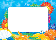 Photo frame 007. Photo frame and page for scrapbook Stock Image