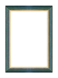 Photo frame. Old wooden green and golden frame Royalty Free Stock Photography