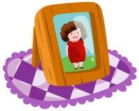Photo frame. Illustration of isolated photo frame on white background Royalty Free Stock Photo