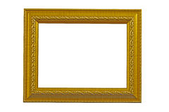 Photo frame. The gold photo frame classic Royalty Free Stock Images