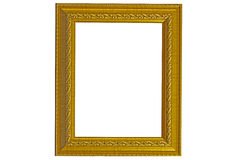 Photo frame. The gold photo frame classic Stock Images