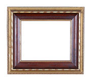 Photo frame. Antique wooden photo frame with space for your text or photo Royalty Free Stock Image